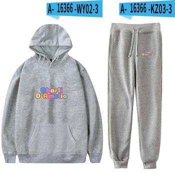 Nes Charli Damelio Merch Hoodie Womens Tracksuit Sweatpants Suit Charlie Damelio Shirt Trousers Sets Unisex Clothes Print Casual 12