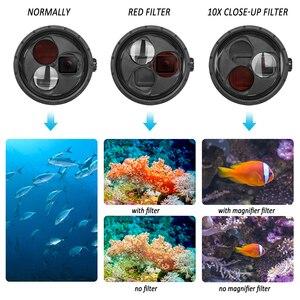 Image 4 - SHOOT pour GoPro Hero 7 6 5 accessoires boîtier étanche avec lentille de filtre rouge couvercle de boîtier sous marin pour Go Pro Hero 7 6 5 noir