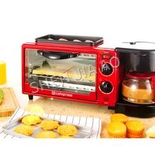 Три в одном, машина для завтрака, кофемашина, печь, запеченная машина, одна машина, высокая мощность, машина для завтрака