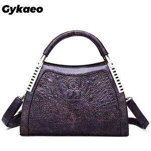 Image 1 - Gykaeo New 2020 Winter Female Street Shopping Messenger Bags Handbags Women Famous Brands PU Leather Shoulder Bag Sac Main Femme
