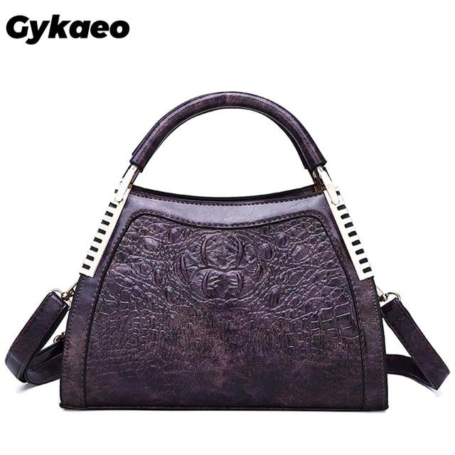 Gykaeo New 2020 Winter Female Street Shopping Messenger Bags Handbags Women Famous Brands PU Leather Shoulder Bag Sac Main Femme