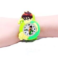 Boys Quartz Watch Colorful Silicone Slap Watches