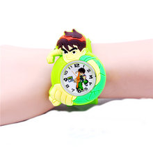 Boys Quartz Watch Colorful Silicone Slap Watches Boy Children Student Sport Watches Kids Clock Wristwatch Watch(China)