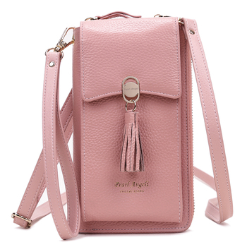 Women Mini Phone Shoulder Bag Genuine Leather Women Wallet Small Crossbody Bags Lady Cell Phone Wallet Holders Clutch phone Bag