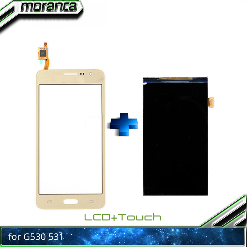 New High Quality 5.0'' For Samsung Galaxy Grand Prime G530 G531 LCD Display With Touch Screen Digitizer Sensor White Black Gold