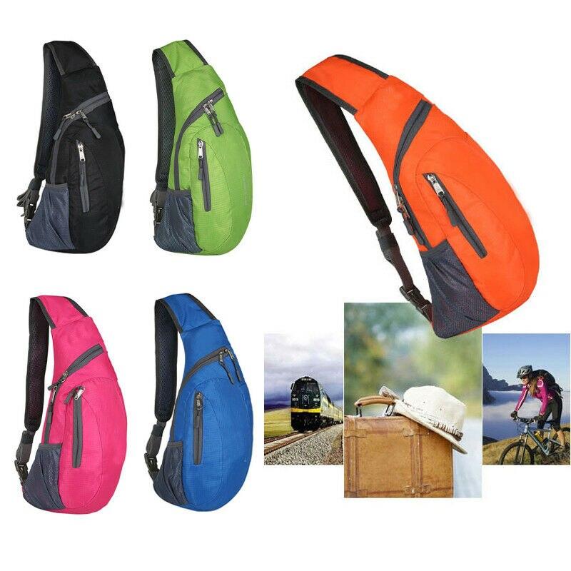 Unisex Women Men Portable Waterproof Chest Waist Packs Pack Travel Sport Cross Body Shoulder Mountaineering Mobile Phone Bag