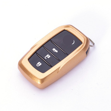 Key case for car For Toyota Camry Coralla Crown RAV4 Highlander 2015 3 Buttons paint key cover keychain keyring new key cover