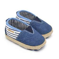Детская обувь из джинсовой ткани в полоску, которые делают первые шаги для детей, на мягкой подошве повседневная детская обувь, легкие в