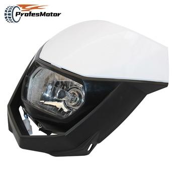 35W Headlight Fairing White Off Road H4 Motorcycle Headlamp Streetfighter Enduro For Yamaha YZ YZF WR WRF
