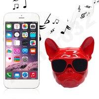 mini wireless bluetooth Novelty  Animal Mini Portable Wireless Bluetooth Speaker Bass Stereo Support U Disk/TF Card Bulldog Design For Smart Devices (1)
