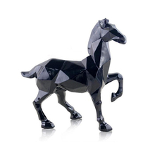 Modern Abstract  Horse  Statue Home Decoration Statue&Sculpture Window Display Gift Horse Geometric Resin Horse Sculpture