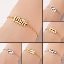 Artilady brith year bracelet for women jewellery chain armband stainless steel bracelets 2020 fashion jewelry wholesale jewelry bracelet exclaim for womens 033s2387b jewellery womens bracelets accessories bijouterie