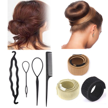 Magic DIY Donut Hair Bun Maker Comb Clip for Women Hairdressing Styling Accessor