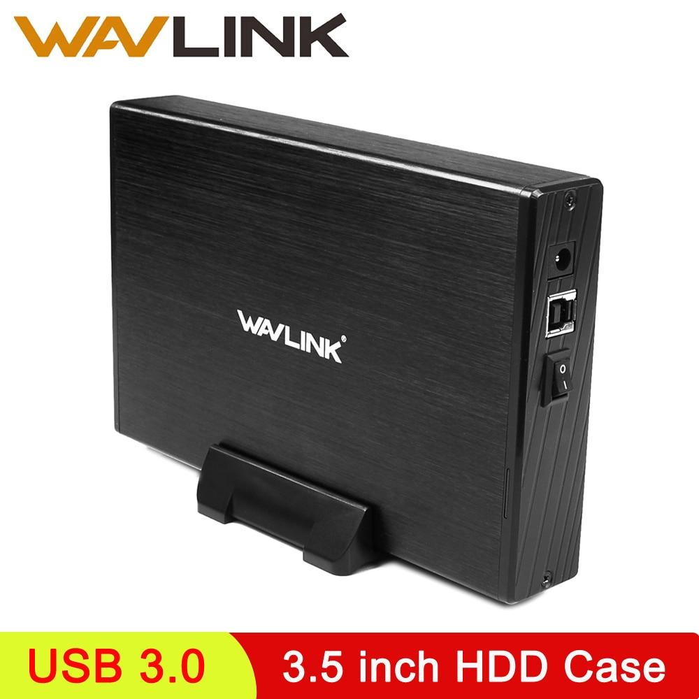 Wavlink HDD Case 3.5 SATA to USB 3.0 Adapter Hard Drive Enclosure Hdd 3.5 Case Sata to