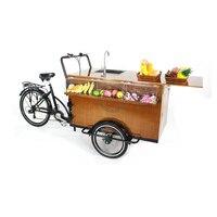 Triciclo bonde do café da bicicleta da roda do oem da fábrica móvel grande do caminhão da capacidade da carga alta t04a com desconto preço