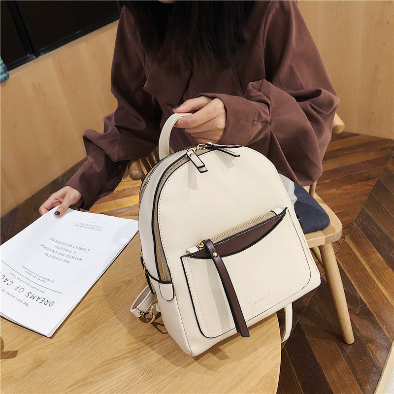 DORANMI Classic Women's Backpack Leather Rucksacks 2019 Fashion Schoolbag Female Solid Back Shoulder Bag Book Mochila DJB885