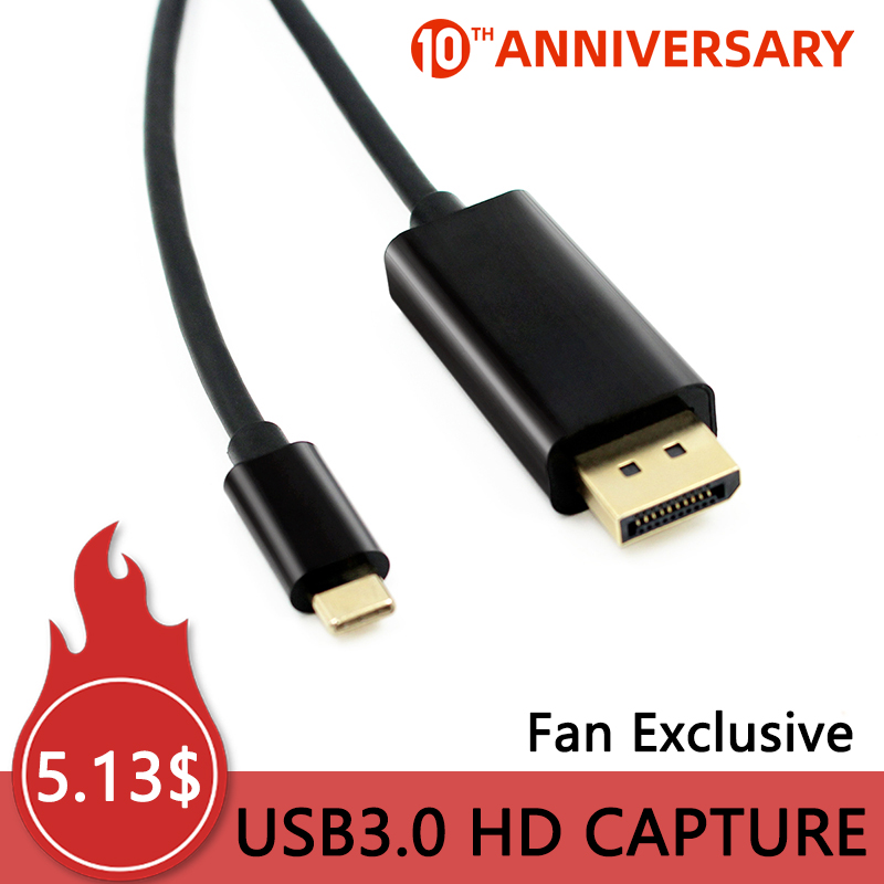 USB3.1 USBC TypeC To DP Cable Displayport Male HDMI 4k 1080p Converter Adapter Swither For PC Display Laptop Projector 1.8m