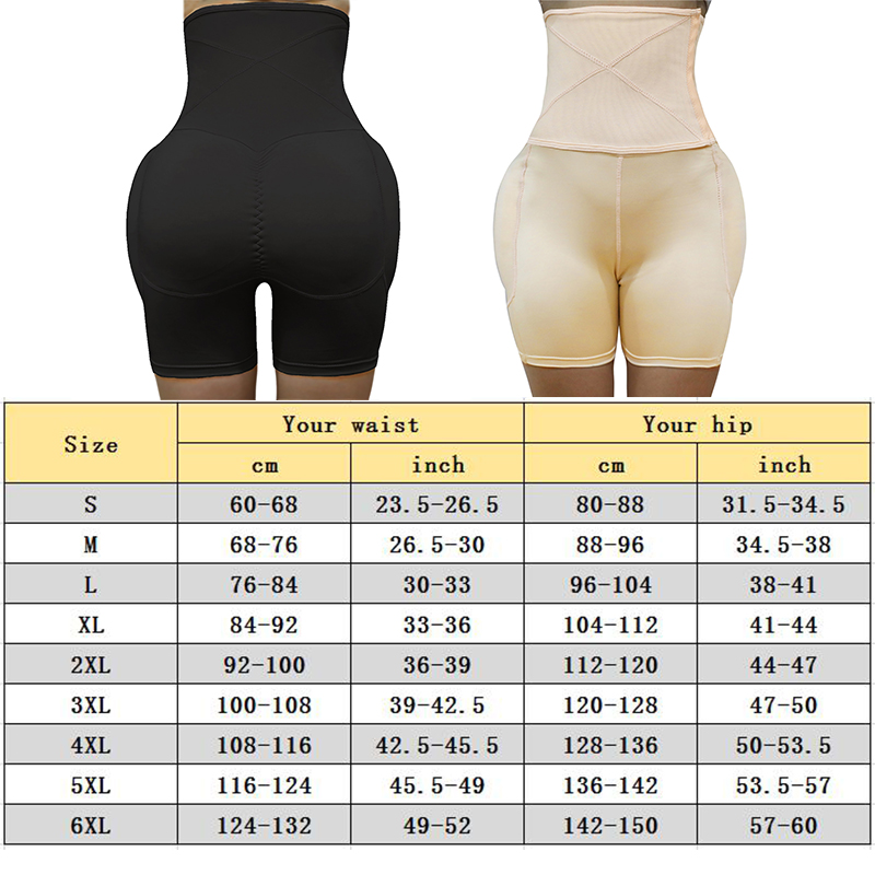 Image 2 - High Waist Tummy Control Panties Stomach Hip Pad Firm Control Shapewear Body Shaper Butt Lifters Bodysuit Booty Butt EnhancerControl Panties   -