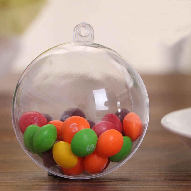 2019 最新のホット空の透明なプラスチッククリスマスボールつまらない球充填可能なクリスマスツリー
