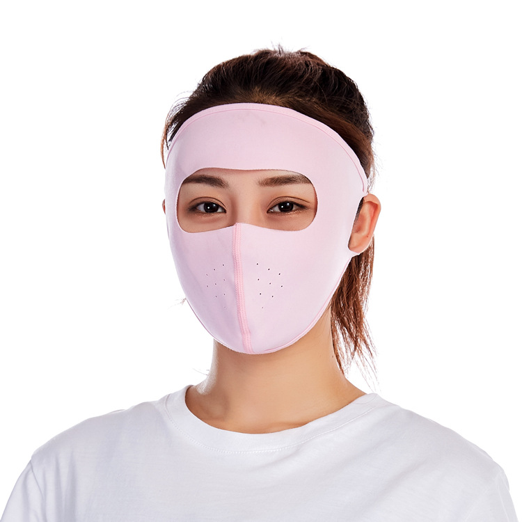 New Style Viscose Sun-resistant Face Mask Women's Summer Full Face Breathable Cycling Mask Electric Bike Windproof Dust Respirat