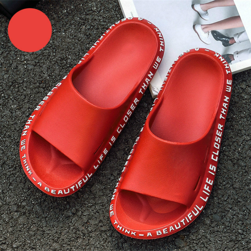 Woman Shoes Fashion Massage Flip Flops Black Summer Men Ladies High Quality EVA Non-slip Bathroom Slippers Beach Slides