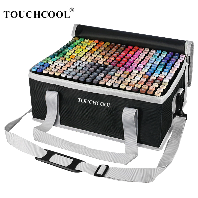 TOUCHCOOL Marker Manga Drawing Art Markers Dual Head Alcohol Brush Markers Sketch Brush Pen Art Supplies Designer Paint Pen