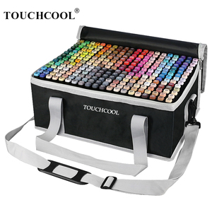 TOUCHCOOL Marker Manga markery do rysowania artystycznego podwójna główka markery do pędzla alkoholowego szkic pędzelek do zdobień dostaw sztuki projektant Marker z farbą
