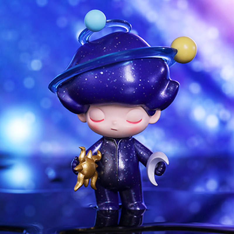 POPMARTS Blind Box Dimoo Space Travel Series Kawaii Figure Doll Collection Decoration Cute Model Toys Gifts For Adult Kids