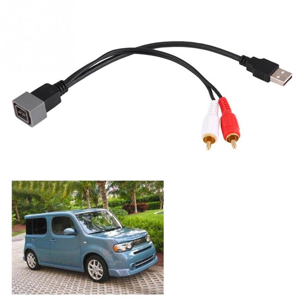 Для Nissan Cube Juke Versa аудио-видео USB RCA адаптер кабель адаптеры розетки Автомобильный Usb Порт Автомобильные аксессуары automovil araba
