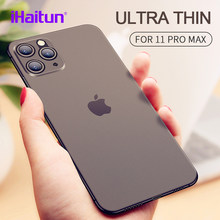 iHaitun Luxury Phone Case For iPhone 11 Pro Max Cases Ultra Thin Transparent Back Slim Cover For iPhone 11 XS MAX XR X 10 Full(China)