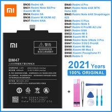 Оригинальный аккумулятор для телефона BM47 BN30 BN34 BM22 для Xiaomi Redmi 3 3S/X 4X 4/5/A 6 8 Note 3/4/4X/5/5A/6 Pro Mi 5 6 6X/Mi A2 Max 2