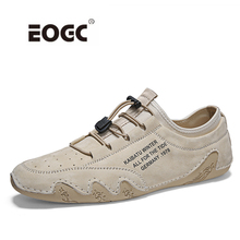 цены Genuine Leather Men Shoes Top Quality Outdoor Men Casual Shoes Handmade High Quality Lace-Up Flats Shoes Men
