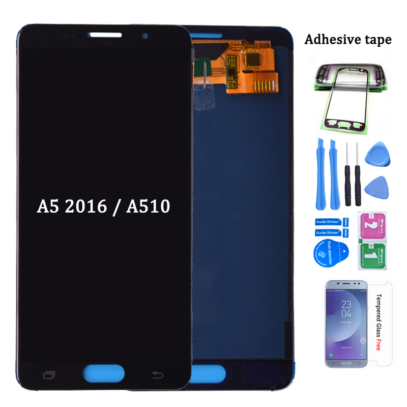 For <font><b>SAMSUNG</b></font> Galaxy A5 2016 A510 A510FD <font><b>A510F</b></font> A510M <font><b>LCD</b></font> Display with Touch Screen Digitizer Assembly Replacement 100% Tested image