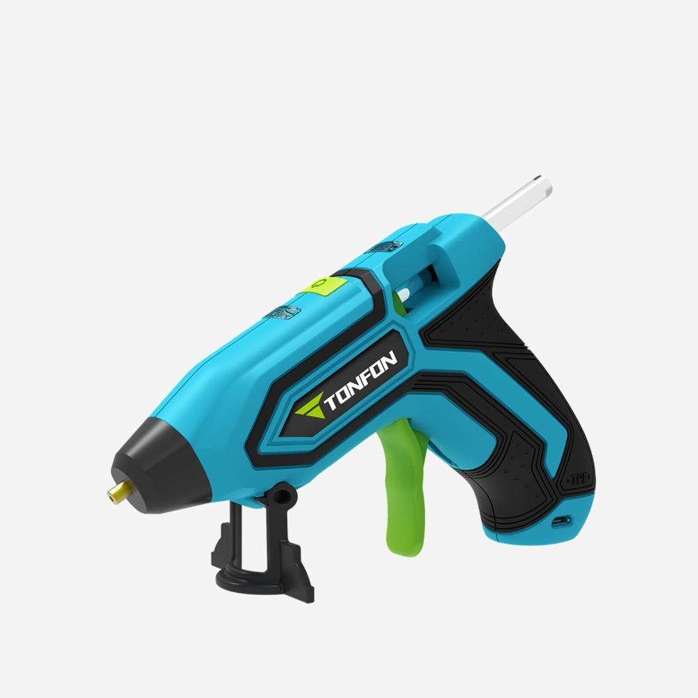 3.6V Lithium-ion Hot Melt Glue Gun With 5pcs 7mm Sticks Wireless Graft Repair Heat Gun Pneumatic Home DIY Tools Hot Glue Gun