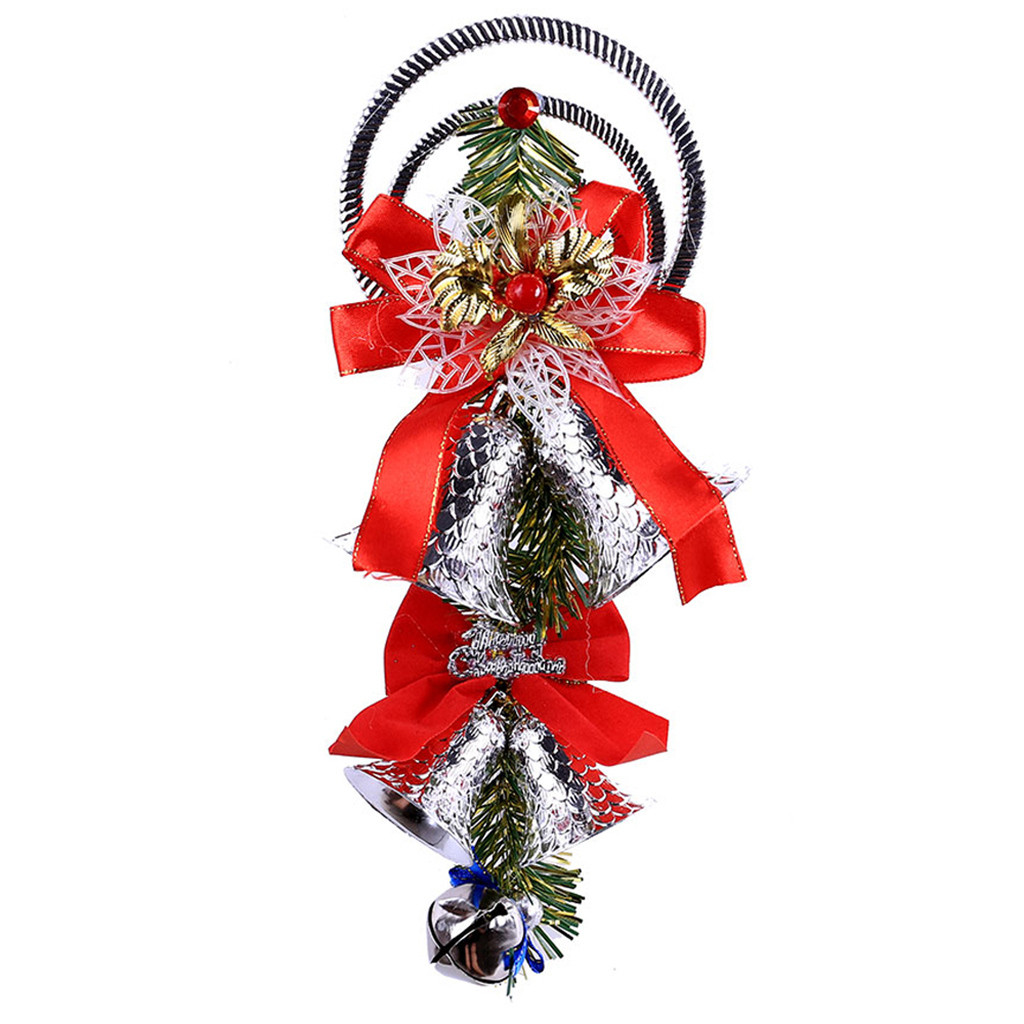 Рождественский колокольчик декоративная подвесная Елочная игрушка подвесное украшение домашний декор - Цвет: G