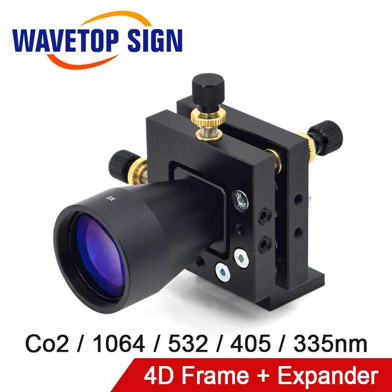 WaveTopSign Mirror Holder 4D Frame Adjusting Frame +Bema Expander Co2 1064nm 355nm 405nm 532nm For Laser Marking Machine