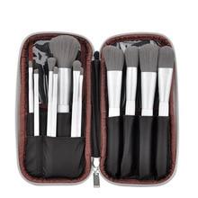 Bamboo Charcoal Fiber Makeup Brush Set Soft Eye Shadow Brush Blush Brush Shadow Kit Beginner Makeup Tool 12Pcs недорого