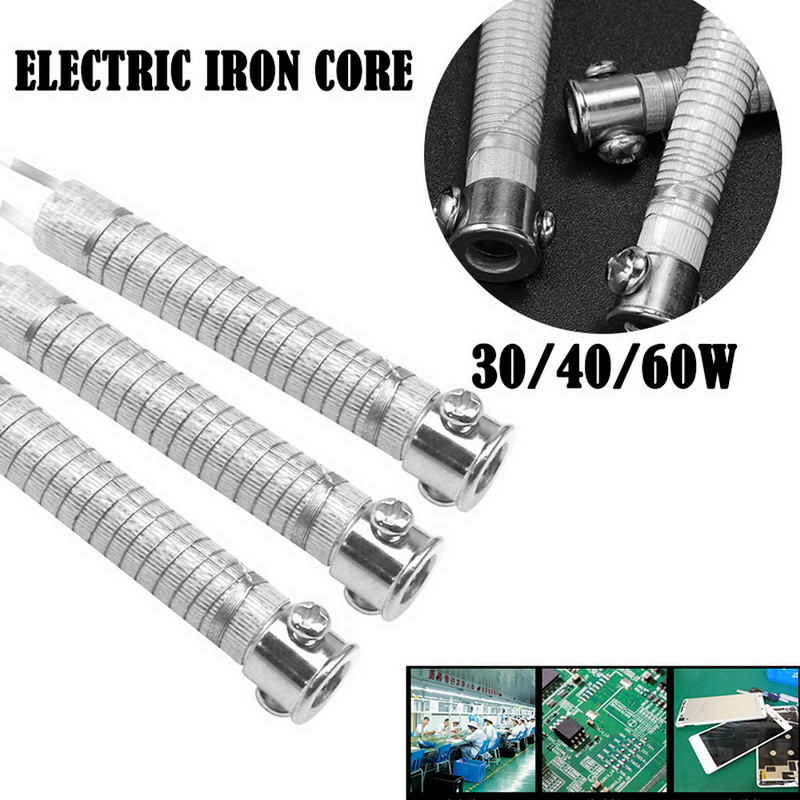 1PC External Heating Element Replacement Electric Soldering Iron Core 220V 30/40/60W Weld Equipment Tool Metalworking Accessory