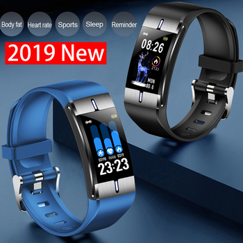 2019 new health ip68 bracelet fitness smart watch pulse pressure body fat tracker blood Russian sport band arterial measurement