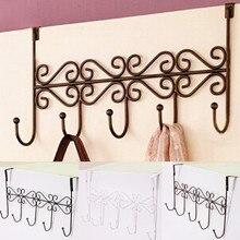 5 Hooks Bag Towel Coat Clothes Hat Over Door Hanger Bathroom Hanging Rack Holder Cabinet Draw Door Wall Hooks Kitchen Organizer