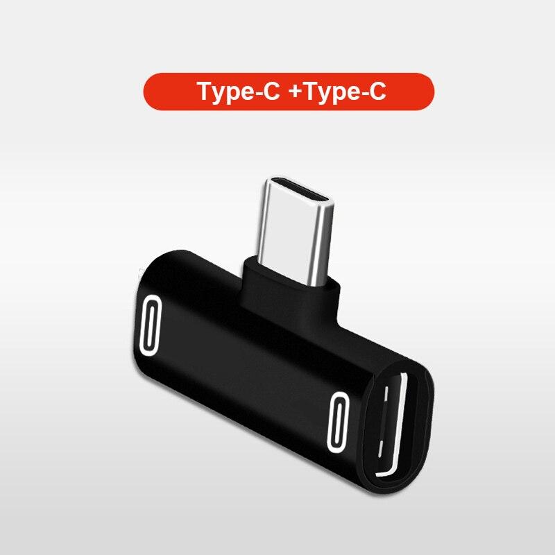3 в 1 адаптер-сплиттер USB Type-C зарядный кабель зарядное устройство конвертер для наушников для Xiaomi Huawei Redmi адаптер для наушников