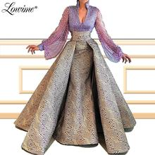 Robe de soiree 2020 feito sob encomenda com decote em v sereia vestido de noite mangas completas dubai árabe turco vestido de festa vestido de baile de formatura do oriente médio