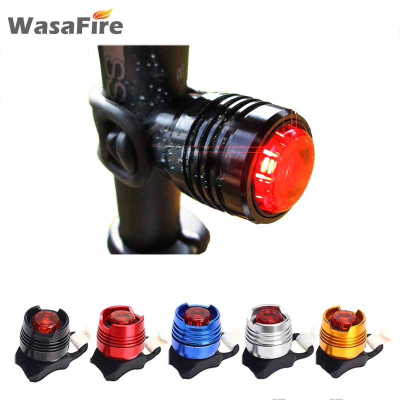 Aluminum Bicycle Front Rear Tail Helmet Red LED Flash Lights Safety Warning Lamp Waterproof Cycling Caution Light