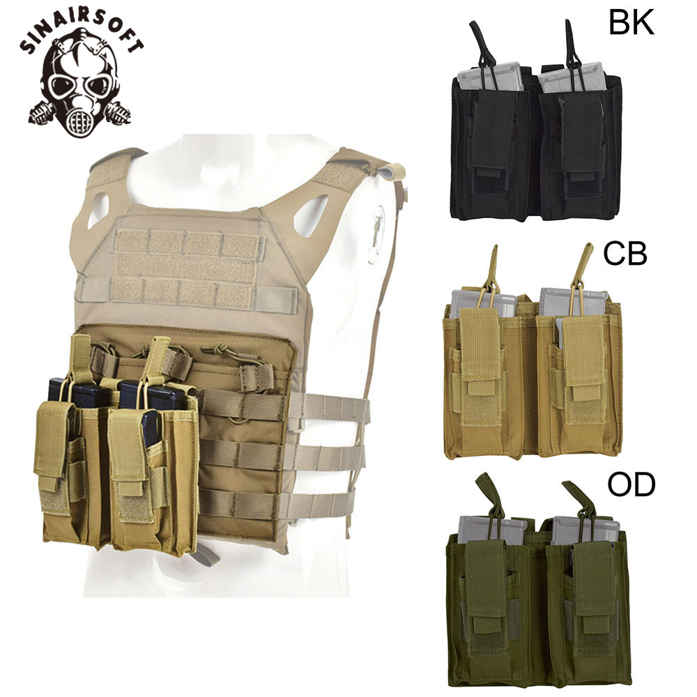Tactical MOLLE Nylon Double Magazine Pouch For 223/5.56mm Tactical Vest Rifle Pistol Mag Pouch Airsoft Hunting Accessories