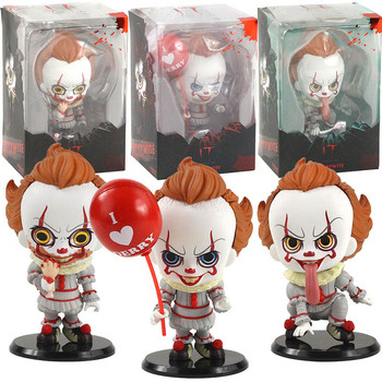 18cm deluxe edition clown action figure neca shf it pennywise figures it model collection return soul 1990 halloween gift 10y05 11-12cm mini Stephen King's It Evil Joker the Clown Pennywise PVC Figure Collectible Model Toy Halloween Dec Doll Gift
