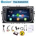 Автомобильный радиоприемник 2 din Android автомобильный dvd-кассета плеер для ford для focus 2 автомобилей магнитофон gps навигация с Wi-Fi рулевое колесо