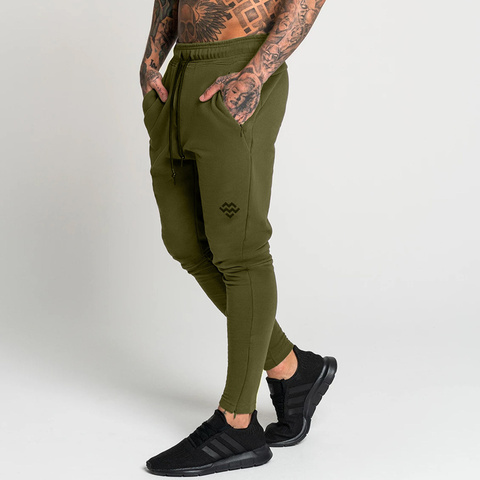 Joggers Sweatpants Men Casual Skinny Pants Gyms Fitness Workout Sportswear Sporty Trousers Male Autumn Winter Cotton Track Pants Pakistan