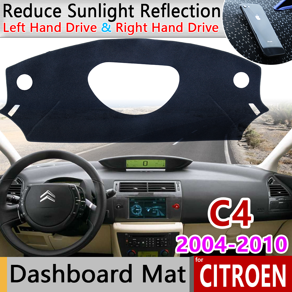 For Citroen C4 MK1 2004 2005 2006 2007 2008 2009 2010 Anti-Slip Mat Dashboard Cover Sunshade Dashmat Accessories C4 Pallas Coupe