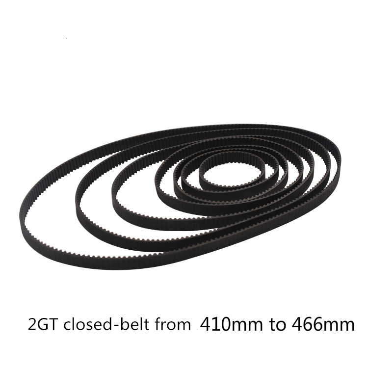 GKTOOLS C-10 3D Printer GT2 6mm Closed Loop Rubber 2GT Timing Belt Length  410 420 426 430 436 440 444 450 460 466mm