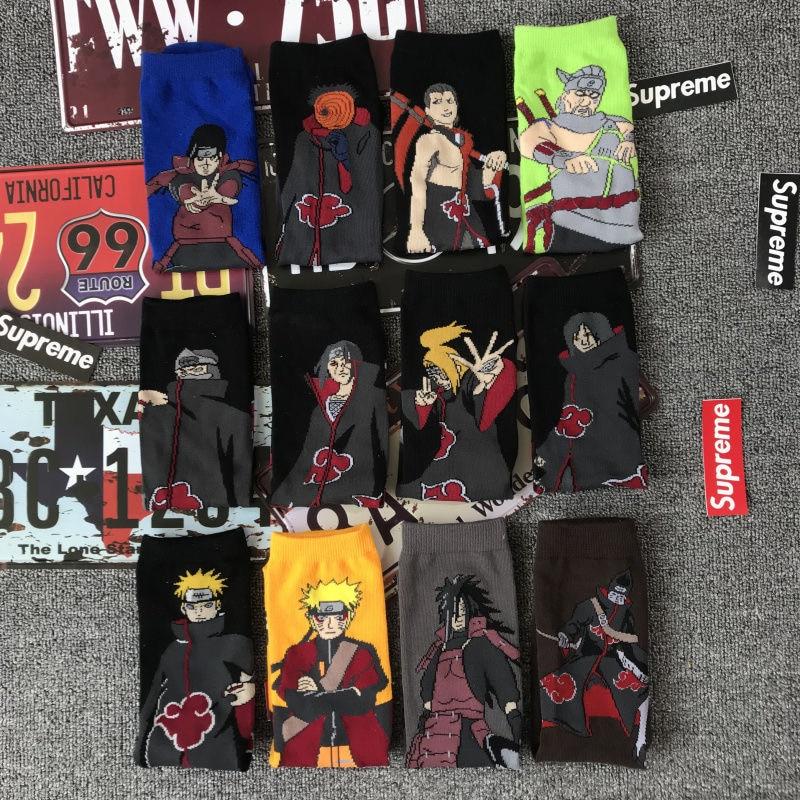 Anime Naruto Socks Spring Cotton Sock Uzumaki Naruto Cartoon 3D Stocking Adult Child Girl Boy Knitting Stockings Kawaii Gift